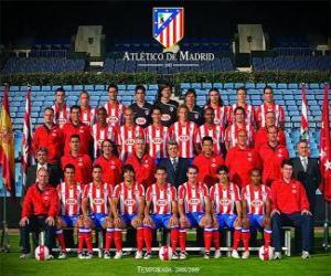 Puzzle de Plantilla del Atlético de Madrid 2008-09