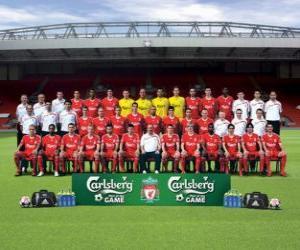 Puzzle de Plantilla del Liverpool F.C. 2009-10