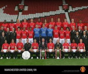 Puzzle de Plantilla del Manchester United F.C. 2008-09