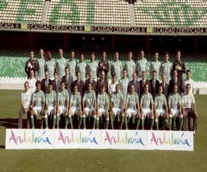 Puzzle de Plantilla del Real Betis 2008-09