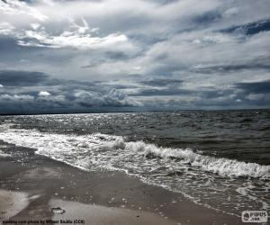 Puzzle de Playa del mar Báltico