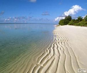 Puzzle de Playa en las Islas Maldivas
