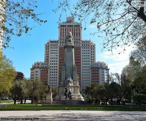 Puzzle de Plaza de España, Madrid