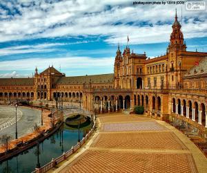 Puzzle de Plaza de España, Sevilla, España