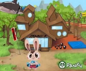 Puzzle de Pokopet Bugsy, un conejo, un tipo de mascota de Panfu