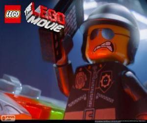 Puzzle de Poli Malo, el policía malo, el agente de policía de la película Lego