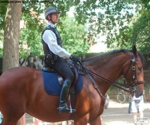Puzzle de Policía de Londres a caballo