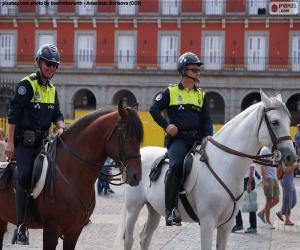 Puzzle de Policía Municipal a caballo, Madrid