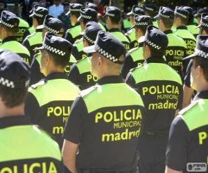 Puzzle de Policía municipal, madrid