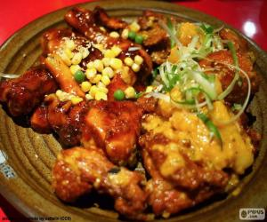 Puzzle de Pollo al estilo Coreano