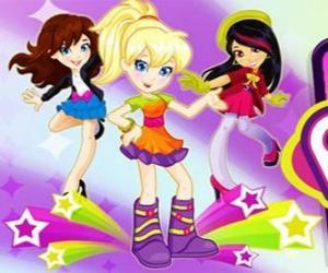 Puzzle de Polly bailando con unas amigas