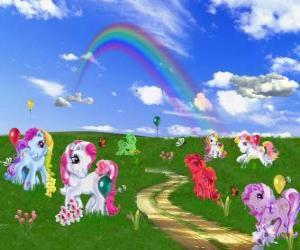 Puzzle de Ponis en el campo