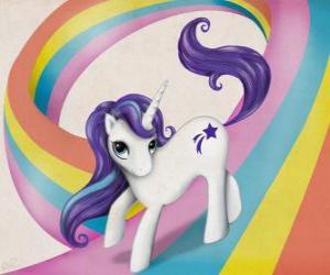 Puzzle de Pony sobre el arcoiris