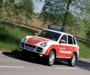 Puzzle de Porsche Cayenne ambulancia