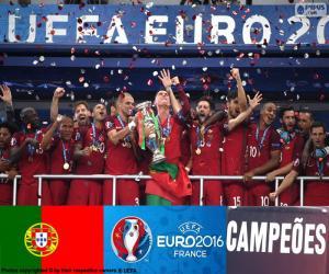 Puzzle de Portugal, campeón Euro 2016
