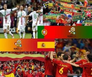 Puzzle de Portugal - España, semifinales Euro 2012