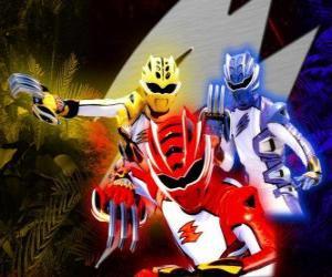 Puzzle de Power Ranger unos guerreros de élite