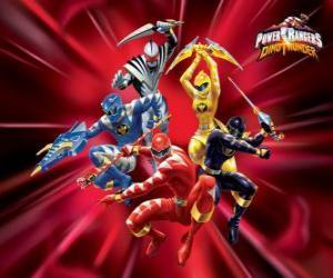 Puzzle de Power Rangers Dino Trueno