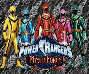 Puzzle de Power Rangers Fuerza Mística