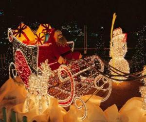 Puzzle de Precioso trineo navideño cargado de regalos de Navidad