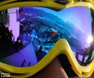 Puzzle de Preparado para salto de esquí