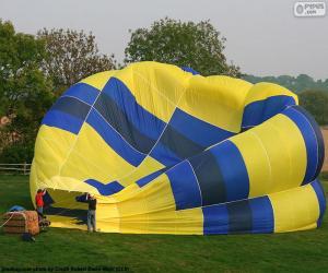 Puzzle de Preparando en globo aerostático