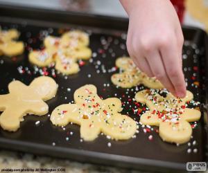 Puzzle de Preparando galletas Navidad