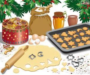 Puzzle de Preparando las galletas navideñas