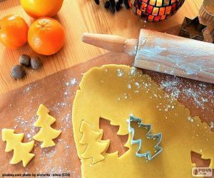 Puzzle de Preparar galletas navideñas