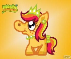 Puzzle de Priscilla. Moshi Monsters. La Princesa Pony
