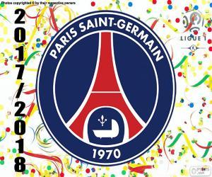 Puzzle de PSG, campeón Ligue 1 2017-2018