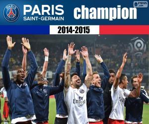 Puzzle de PSG, campeón 2014-2015
