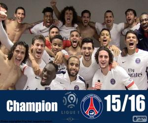 Puzzle de PSG campeón 2015-2016