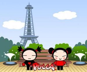 Puzzle de Pucca y Garu en Paris