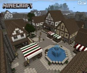 Puzzle de Pueblo de Minecraft