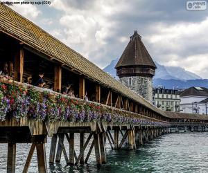Puzzle de Puente de la capilla, Suiza