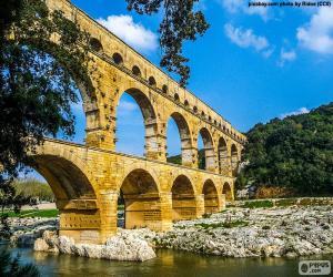 Puzzle de Puente del Gard, Francia