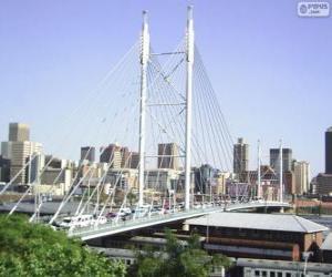 Puzzle de Puente Nelson Mandela, Johannesburgo, Sudáfrica