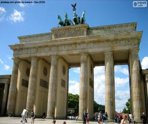 Puzzle de Puerta de Brandenburgo, Alemania
