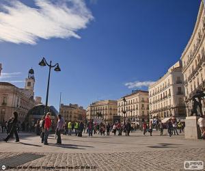Puzzle de Puerta del Sol, Madrid
