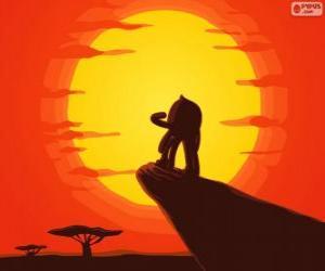Puzzle de Pypus en la roca del rey como Simba, el rey león