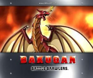 Puzzle de Pyrus Drago es el Bakugan guardian de Dan