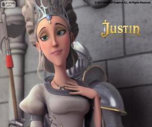 Puzzle de Queen es la hermosa monarca del reino