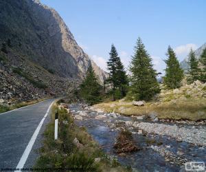 Puzzle de Río, carretera de montaña