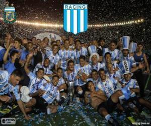 Puzzle de Racing Club de Avellaneda, campeón del Torneo de Transición 2014 de Argentina