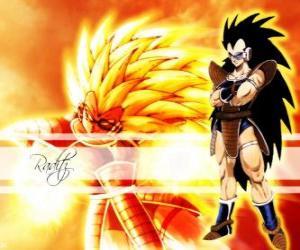 Puzzle de Raditz, es un Saiyajin, el hermano mayor de Son Goku que consiguió sobrevivir a la destrucción del planeta Vegeta