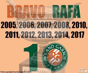 Puzzle de Rafa Nadal, 10 Roland Garros