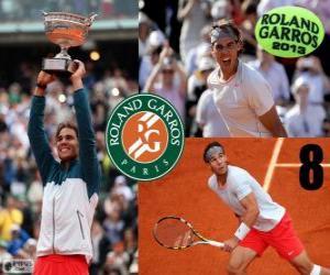 Puzzle de Rafael Nadal Campeón Roland Garros 2013