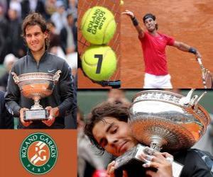 Puzzle de Rafael Nadal Campeón Roland Garros 2012