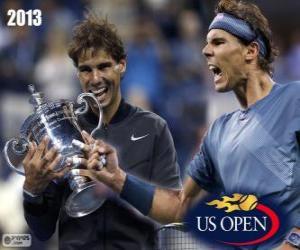 Puzzle de Rafael Nadal Campeón US Open 2013